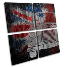 Union Jack Grunge Taxi Urban - 13-6071(00B)-MP01-LO